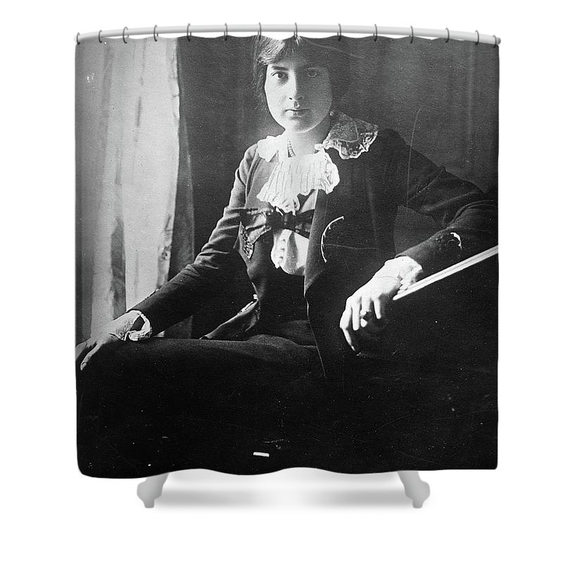 1918 Shower Curtain featuring the photograph Lili Boulanger (1893-1918) by Granger
