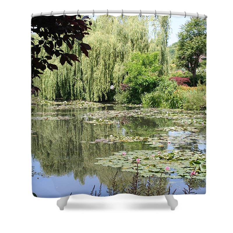 Liliy Shower Curtain featuring the photograph Lily Pond - Monets Garden - France by Christiane Schulze Art And Photography