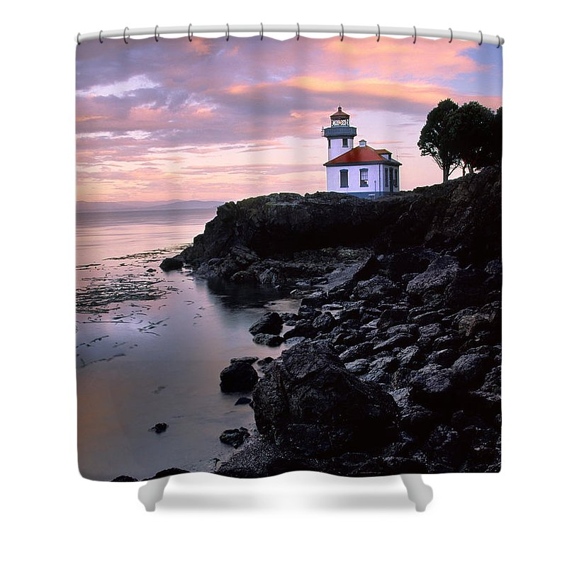 America Shower Curtain featuring the photograph Lime Kiln Dawn by Inge Johnsson