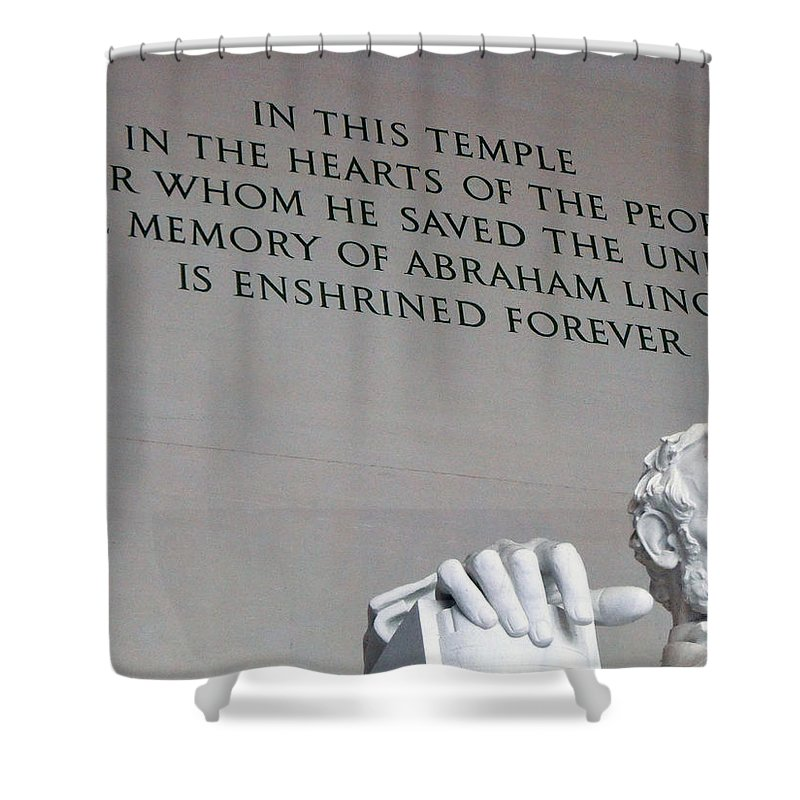 Abraham Lincoln Shower Curtain featuring the photograph Lincoln Memorial by Nathan Shegrud