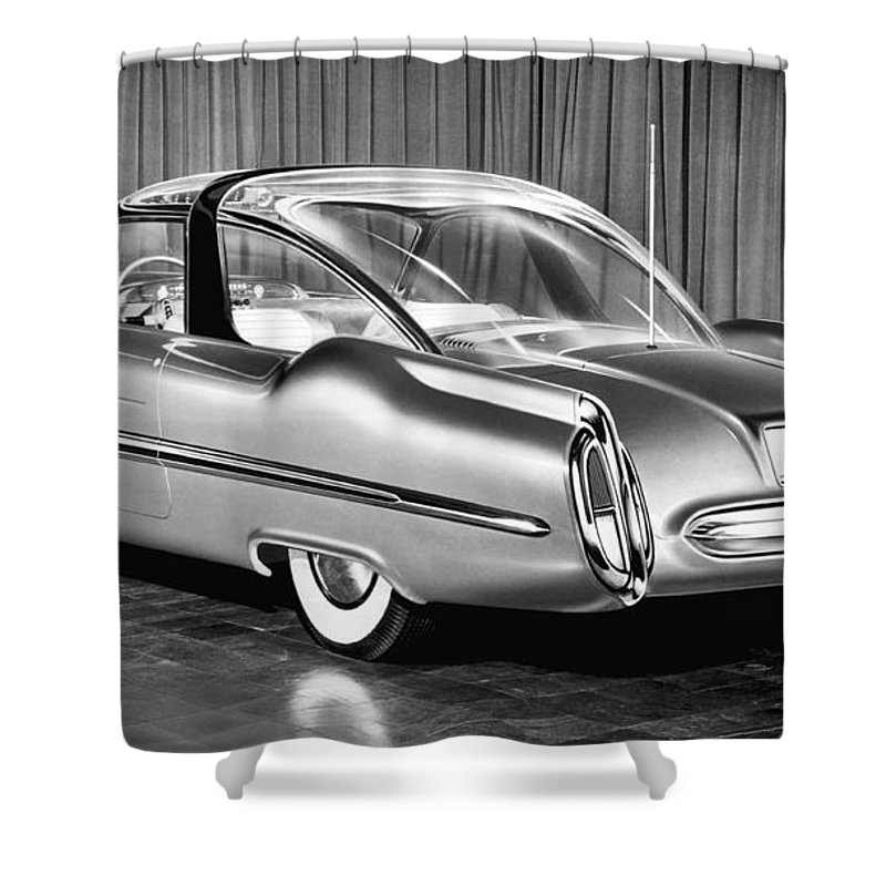 1950's Shower Curtain featuring the photograph Lincoln Xl-500 Concept Car by Underwood Archives
