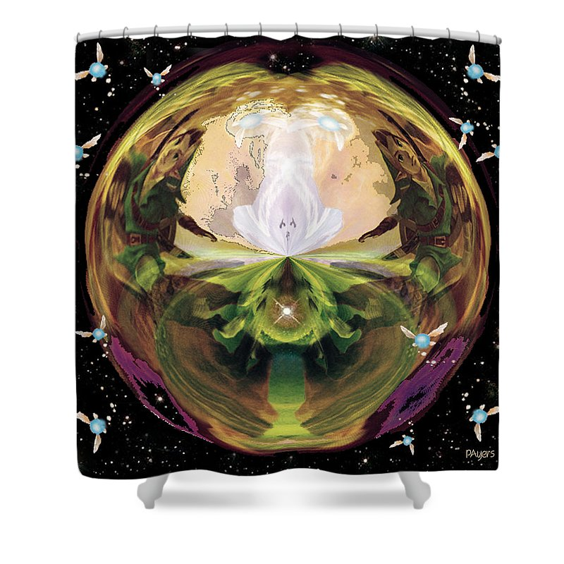 Photo Shower Curtain Featuring The Photograph Link From Legend Of Zelda By Paula Ayers