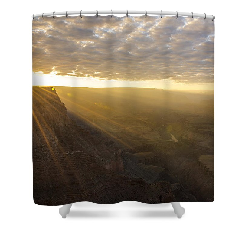 Lipon Point Sunset Grand Canyon National Park Arizona Az Shower Curtain featuring the photograph Lipon Point Sunset 2 - Grand Canyon National Park - Arizona by Brian Harig