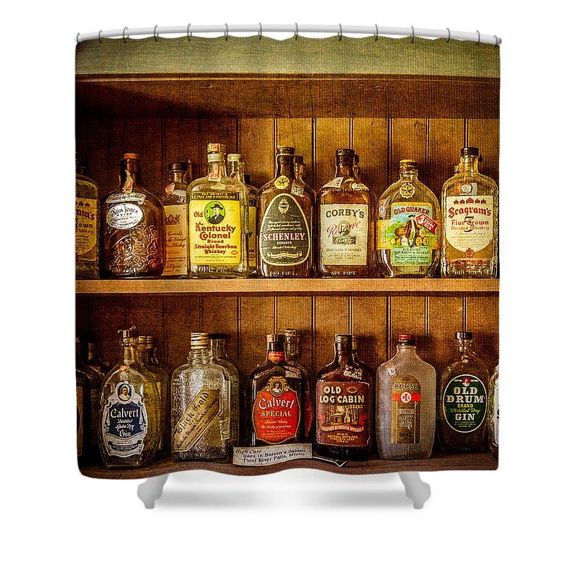 Liquor Shower Curtain featuring the photograph Liquor Cabinet by Paul Freidlund