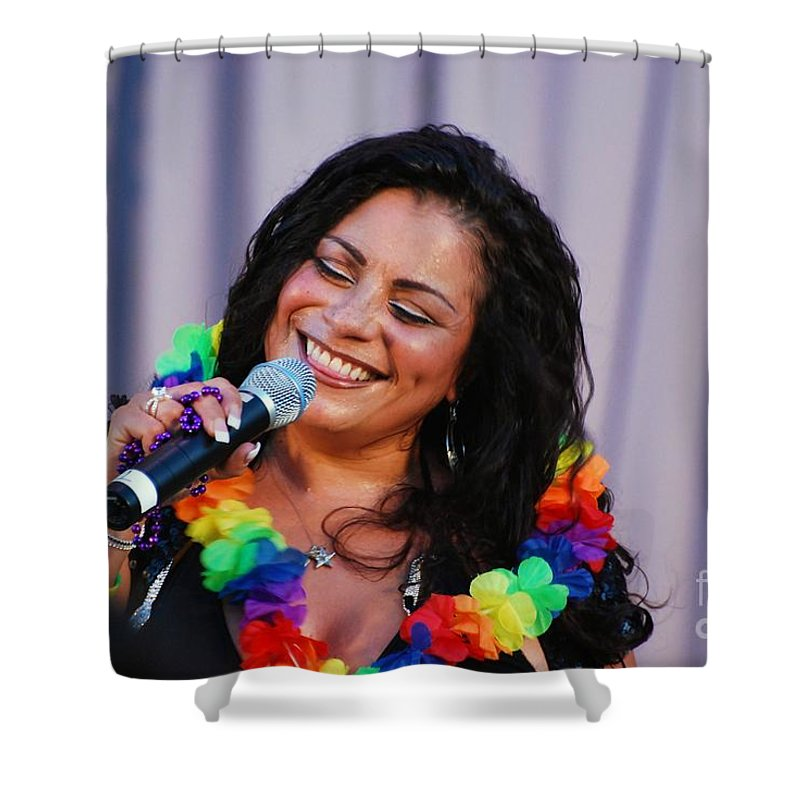 Lisa Lisa And Cult Jam Shower Curtain featuring the photograph Lisa Lisa by Davids Digits