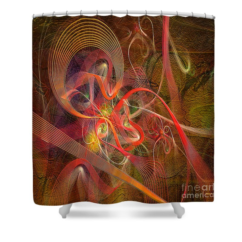 Lite Brigade Shower Curtain featuring the digital art Lite Brigade - Square Version by John Beck