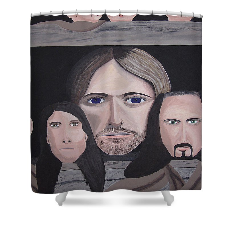 Original Shower Curtain featuring the painting Lithium by Dean Stephens