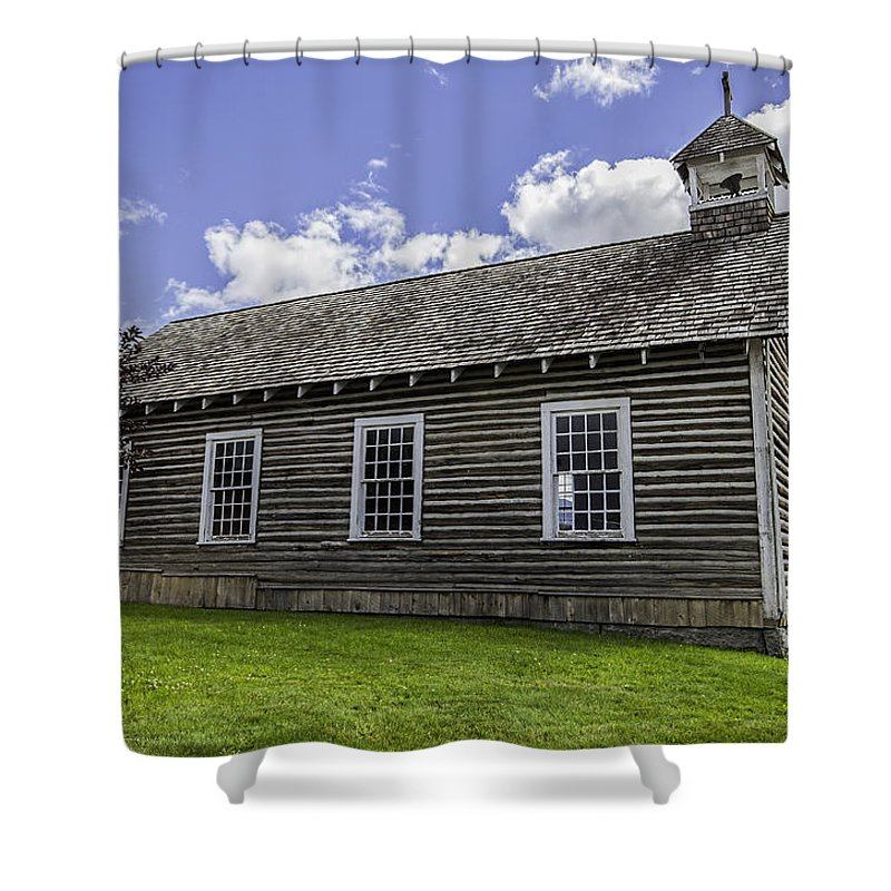 Church Shower Curtain featuring the photograph Little Church - World Mining Museum by Fran Riley