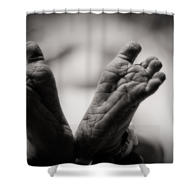 3scape Photos Shower Curtain featuring the photograph Little Feet by Adam Romanowicz
