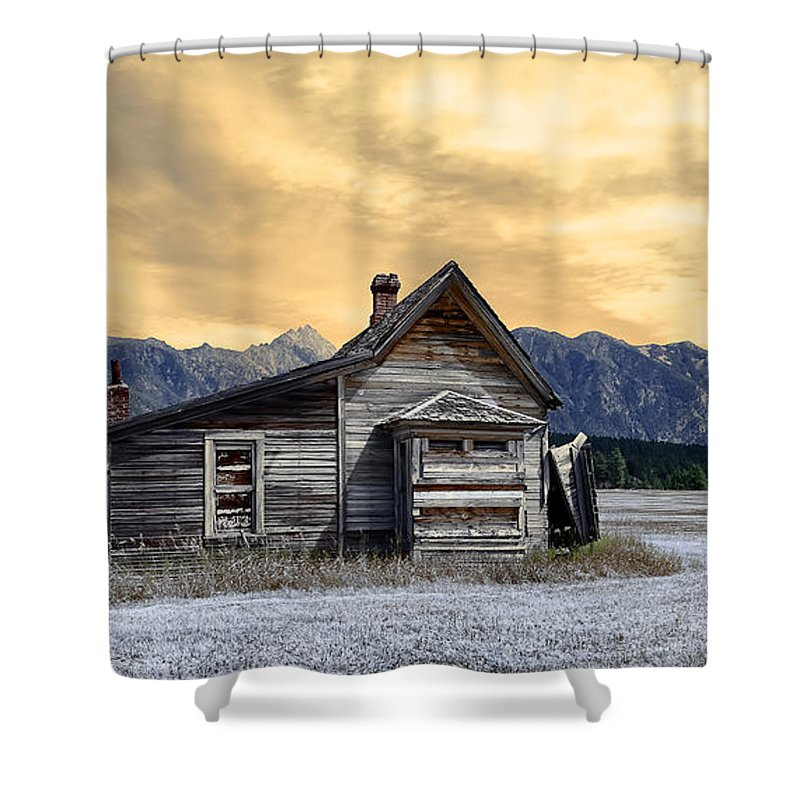 Architecture Shower Curtain featuring the photograph Little House On The Prairie by Wayne Sherriff