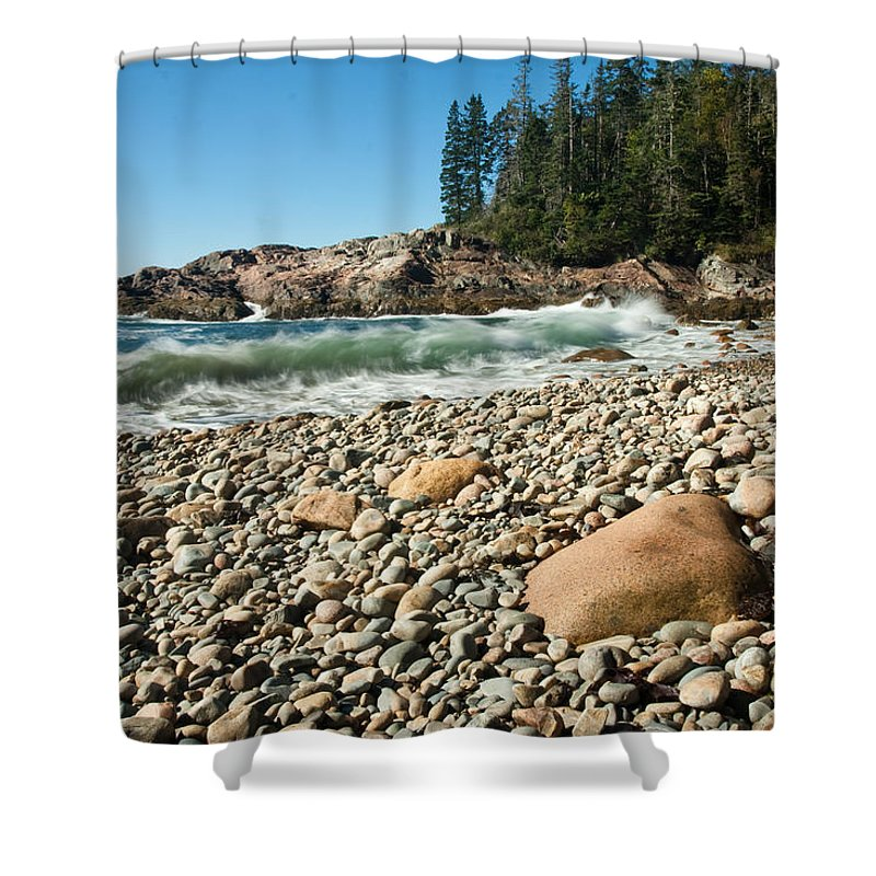 Hunters Beach Shower Curtain featuring the photograph Little Hunter's Beach 0009 by Brent L Ander