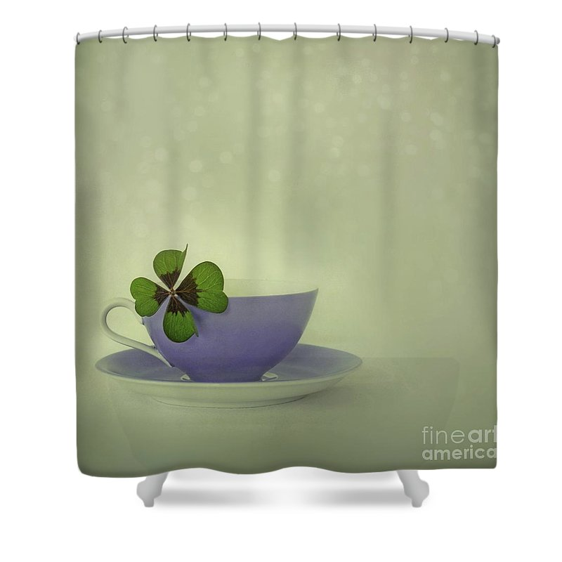 Still Life Shower Curtain featuring the photograph Little Luck by Priska Wettstein