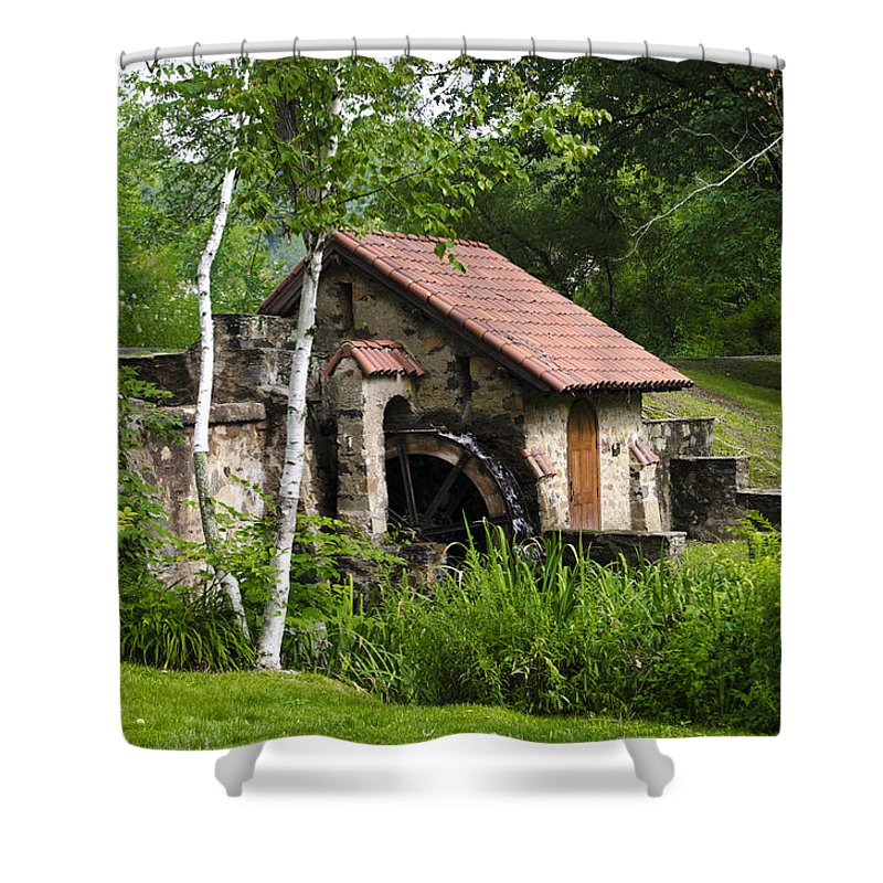 Little Shower Curtain featuring the photograph Little Mill Eastern State College by Bill Cannon