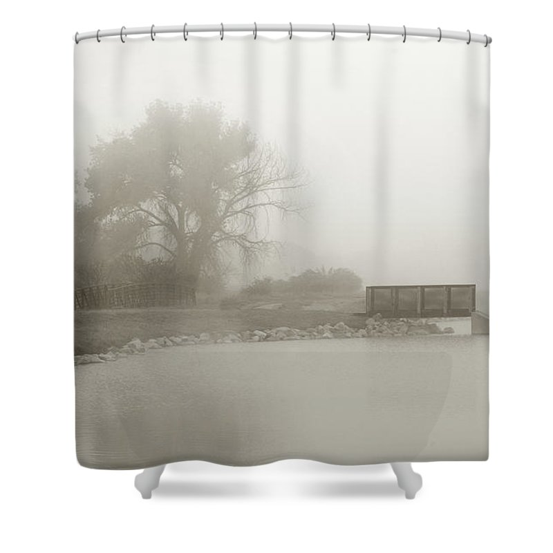 Little Shower Curtain featuring the photograph Little Pier by Marilyn Hunt