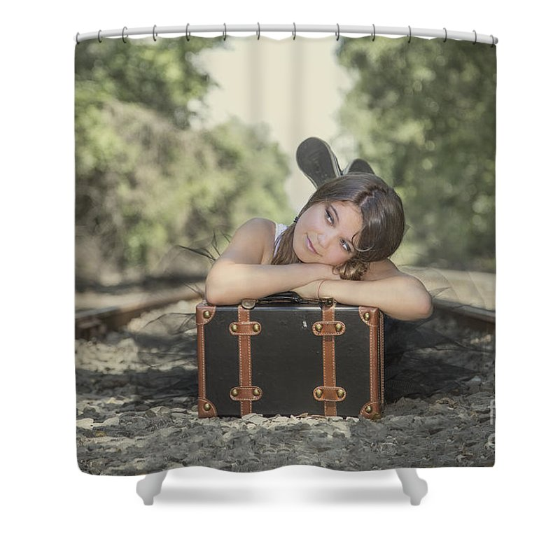 Girl Shower Curtain featuring the photograph Little Thing Called Love by Evelina Kremsdorf