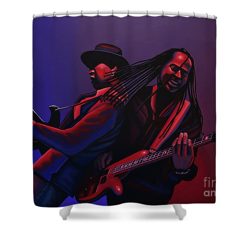 Living Colour Shower Curtain featuring the painting Living Colour Painting by Paul Meijering
