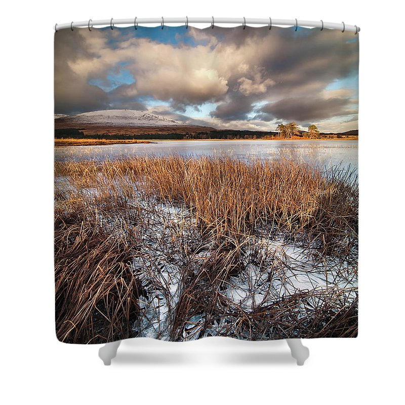 Tranquility Shower Curtain featuring the photograph Loch Tulla by Image By Peter Ribbeck