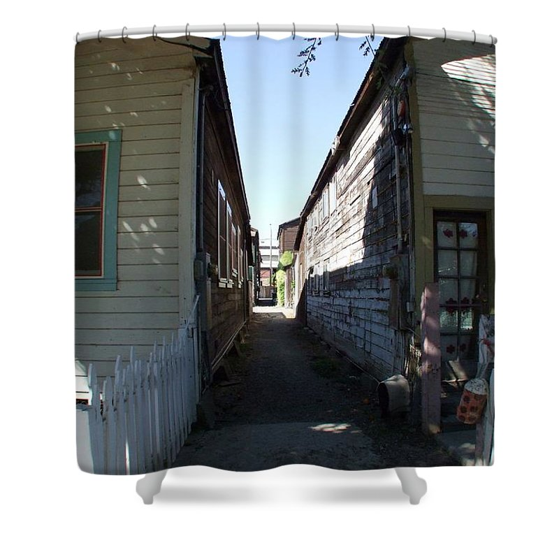 Alley Shower Curtain featuring the photograph Locke Chinatown Series - Back Alley - 6 by Mary Deal