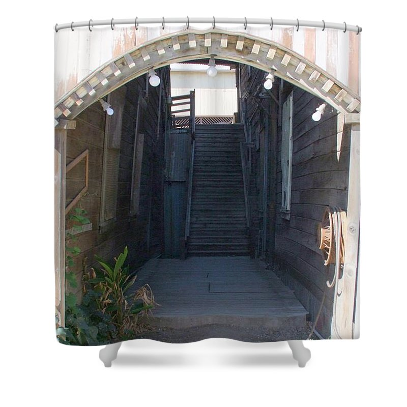 Buildings Shower Curtain featuring the photograph Locke Chinatown Series - Star Theatre - 2 by Mary Deal
