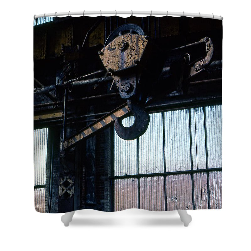 Hooks Shower Curtain featuring the photograph Locomotive Hook by Richard Rizzo