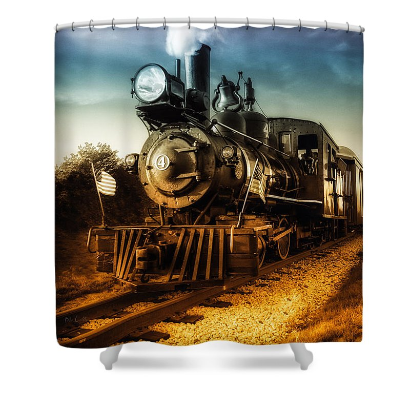 Train Shower Curtain featuring the photograph Locomotive Number 4 by Bob Orsillo