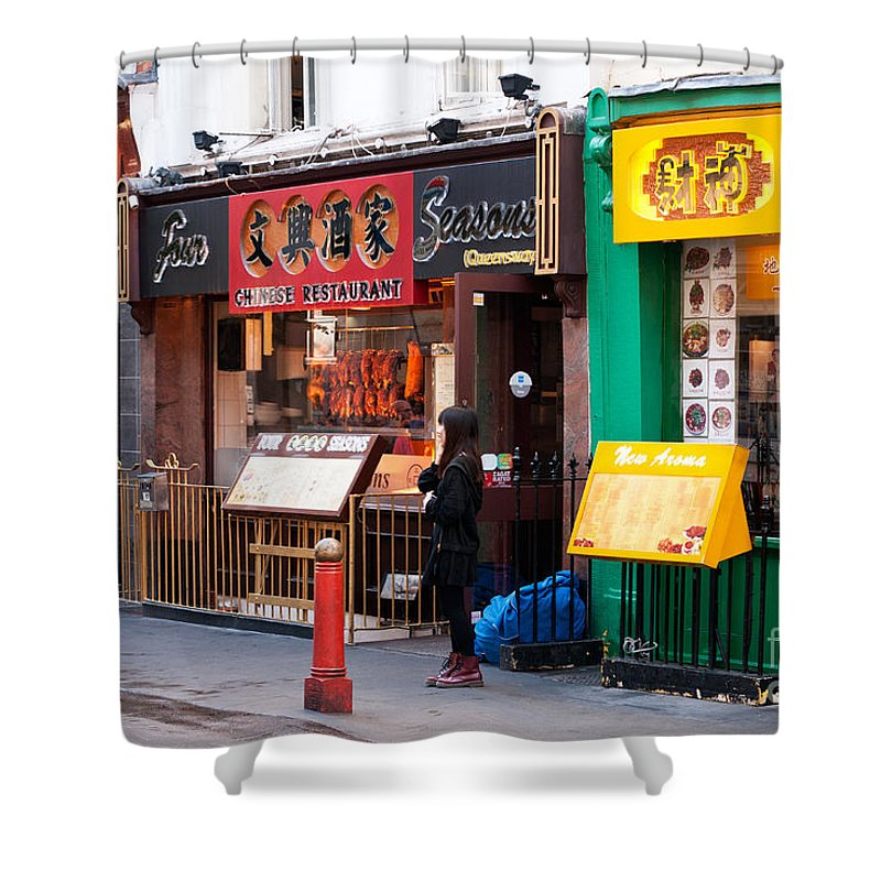 London Shower Curtain featuring the photograph London Chinatown 03 by Rick Piper Photography