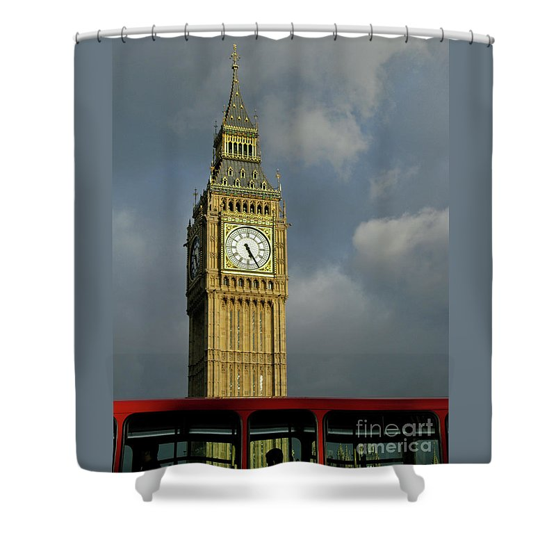 London Icons By Ann Horn Shower Curtain featuring the photograph London Icons by Ann Horn