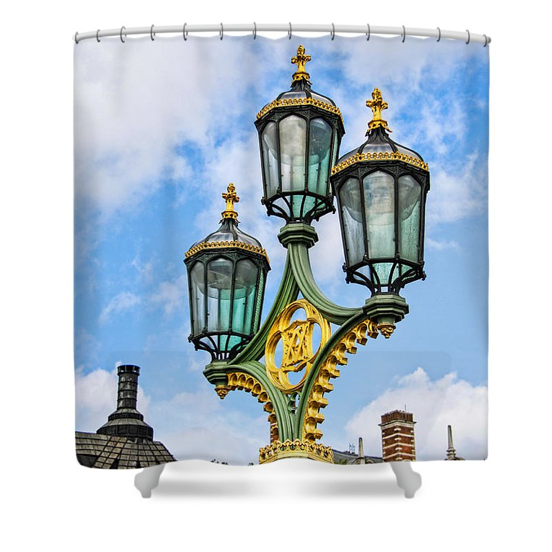 London Shower Curtain featuring the photograph London Lamp Post by Jim Pruett
