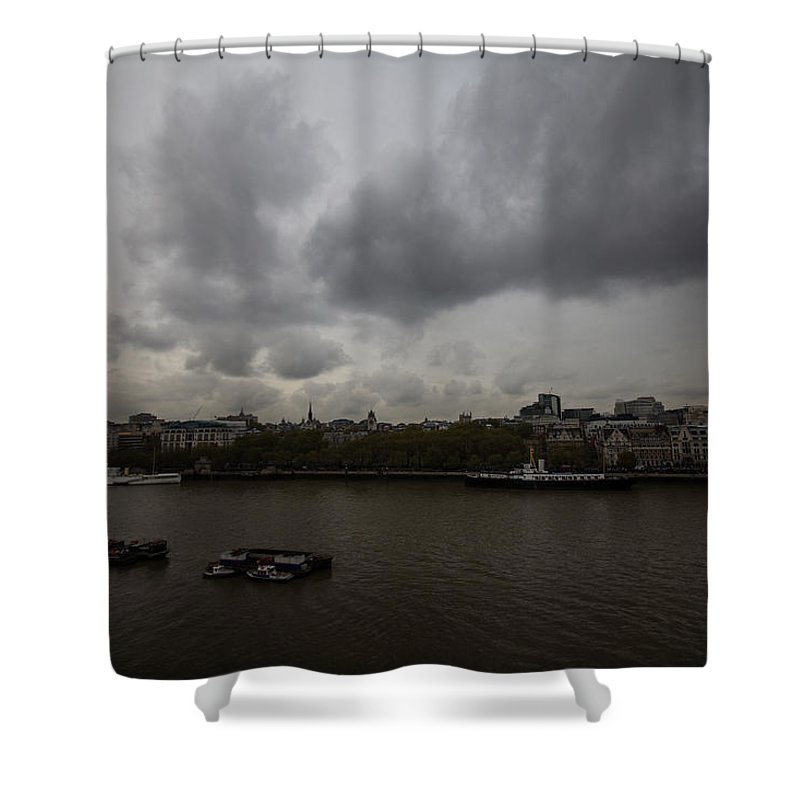 London Shower Curtain featuring the photograph London River View by Dawn OConnor