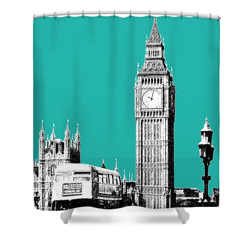 London Skyline Shower Curtains