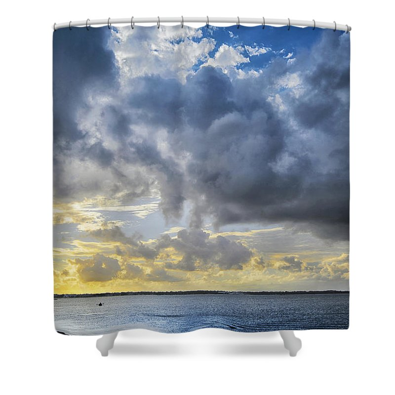 Kayak Shower Curtain featuring the photograph Lonely Kayak by Louise Hill