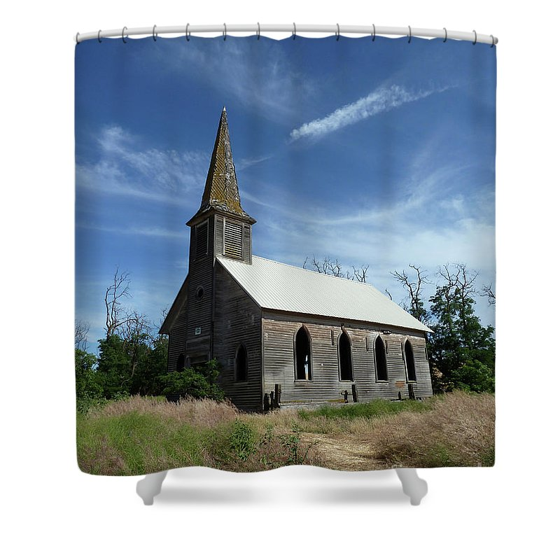Landscape Shower Curtain featuring the photograph Lonesome by Lauren Leigh Hunter Fine Art Photography