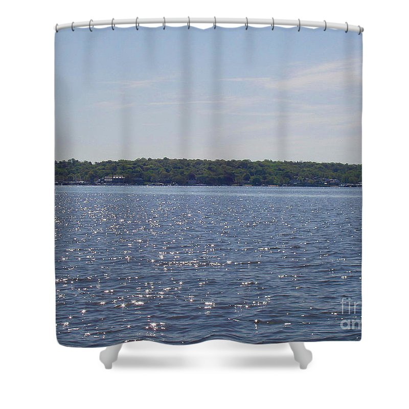 Long Island Sun At Midday Shower Curtain featuring the photograph Long Island Sun At Midday by John Telfer