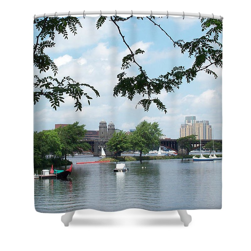 longfellow Shower Curtain featuring the photograph Longfellow From Lagoon by Barbara McDevitt