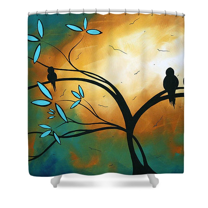Art Shower Curtain featuring the painting Longing By Madart by Megan Duncanson