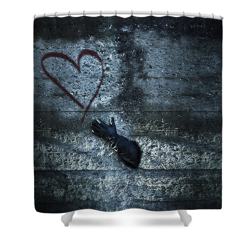 Man Shower Curtain Featuring The Photograph Longing For Love By Joana Kruse