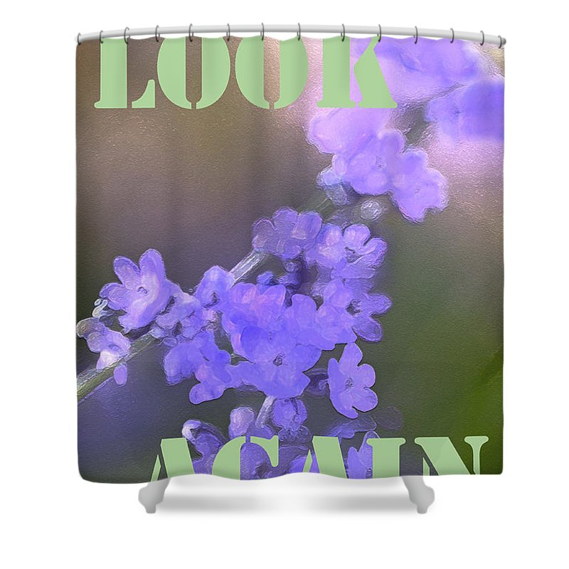 Look Again Shower Curtain featuring the photograph Look Again by Pamela Cooper