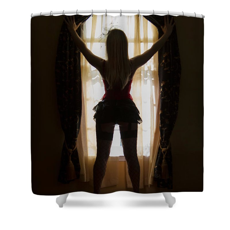 Alone Shower Curtain featuring the photograph Look Through My Window by Evelina Kremsdorf