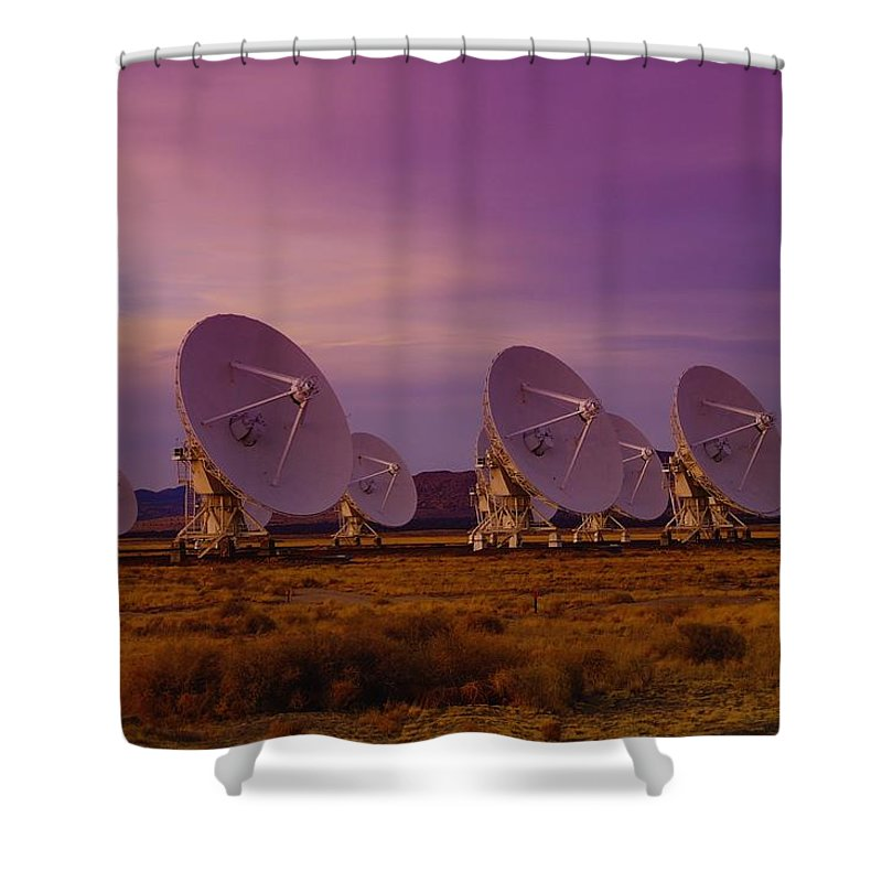 Very Large Array Shower Curtain featuring the photograph Looking Outward by Jeff Swan