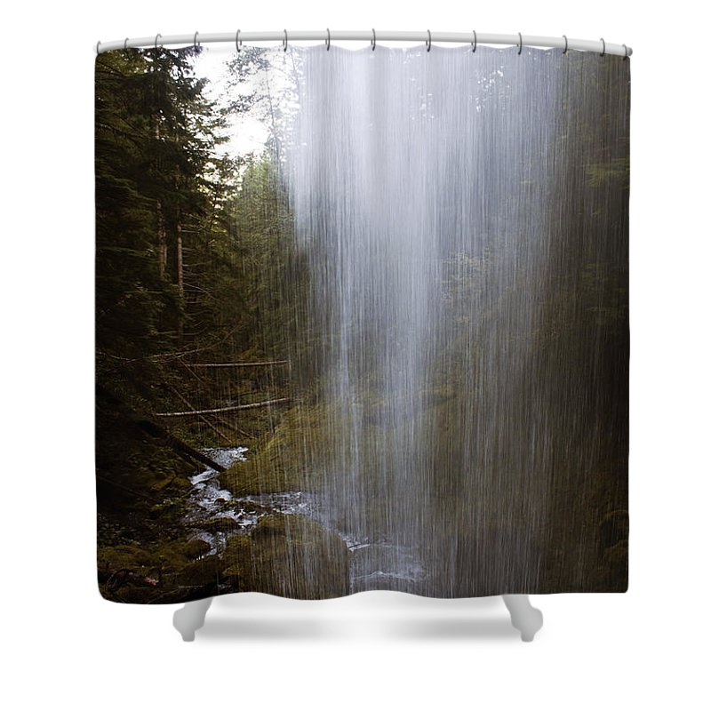 Angel Falls Shower Curtain featuring the photograph Looking Through Angel Falls by Edward Hawkins II