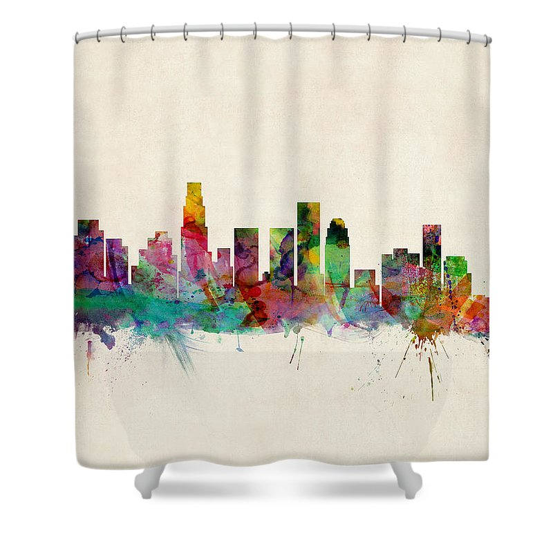 Los Angeles Skyline Shower Curtains
