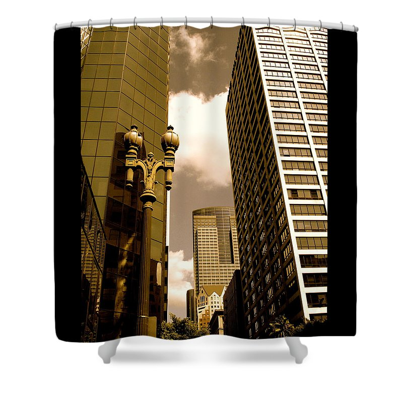 Los Angeles Prints Shower Curtain featuring the photograph Los Angeles Downtown by Monique's Fine Art