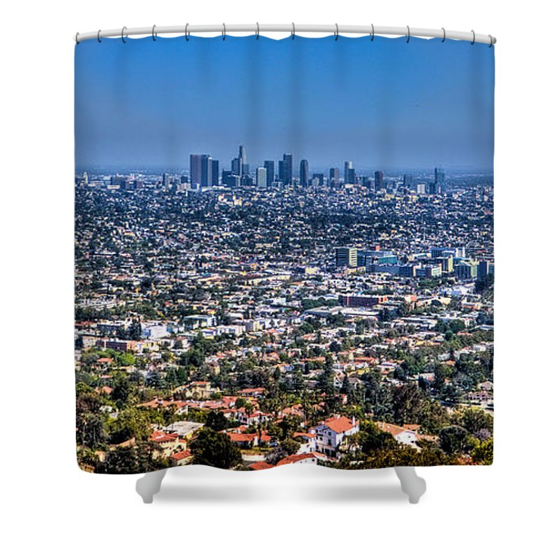 Wide Shower Curtain featuring the photograph Los Angeles by Jonny D