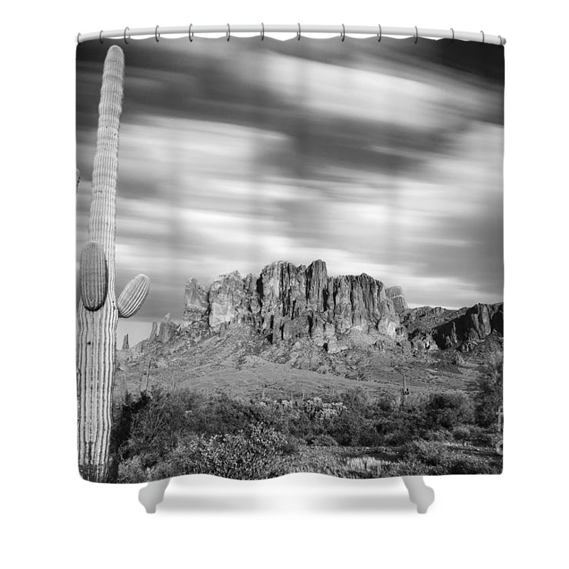 Plant Shower Curtain featuring the photograph Lost Dutchman State Park - Arizona by Henk Meijer Photography