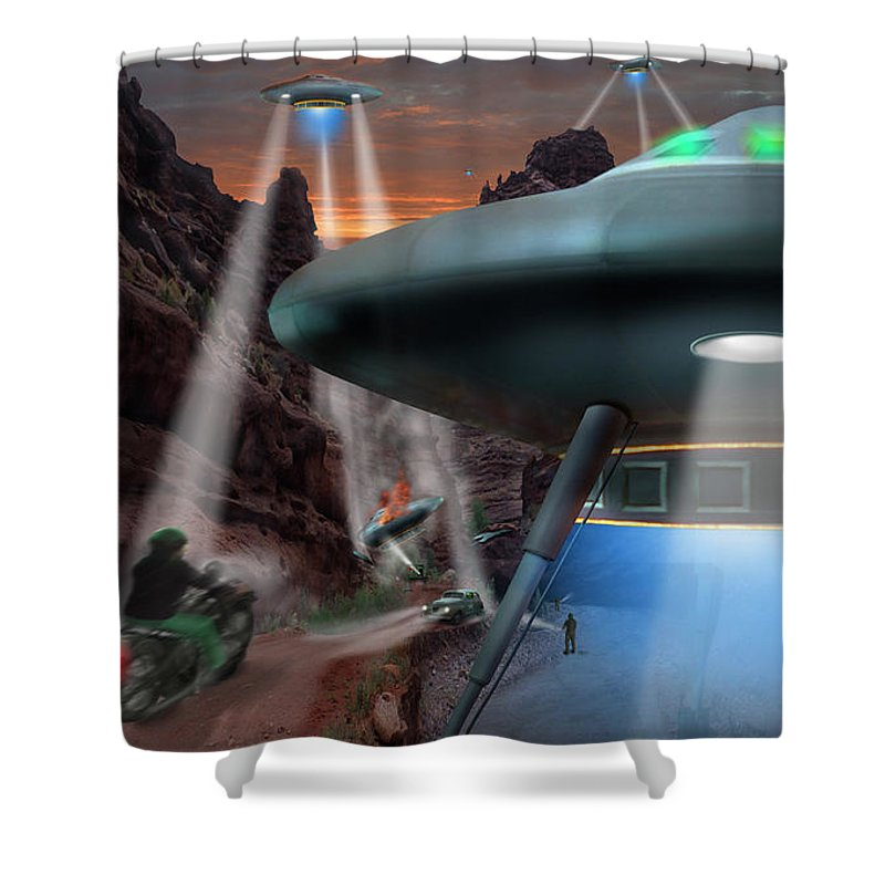 Ufo Shower Curtain featuring the photograph Lost Film Number 4 by Mike McGlothlen