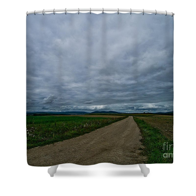 Landscape Shower Curtain featuring the photograph Lost In France by Brothers Beerens