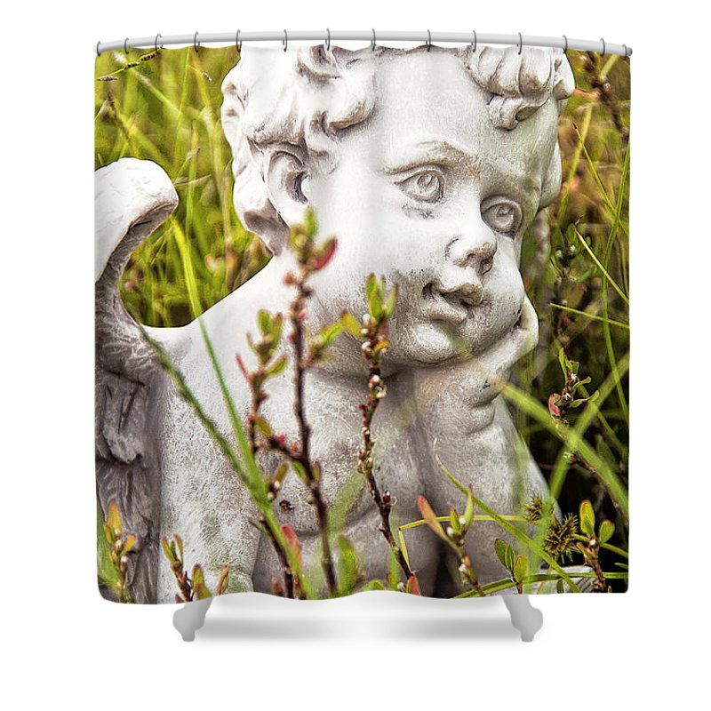 Angel Shower Curtain featuring the photograph Lost In Thought by Regina Geoghan