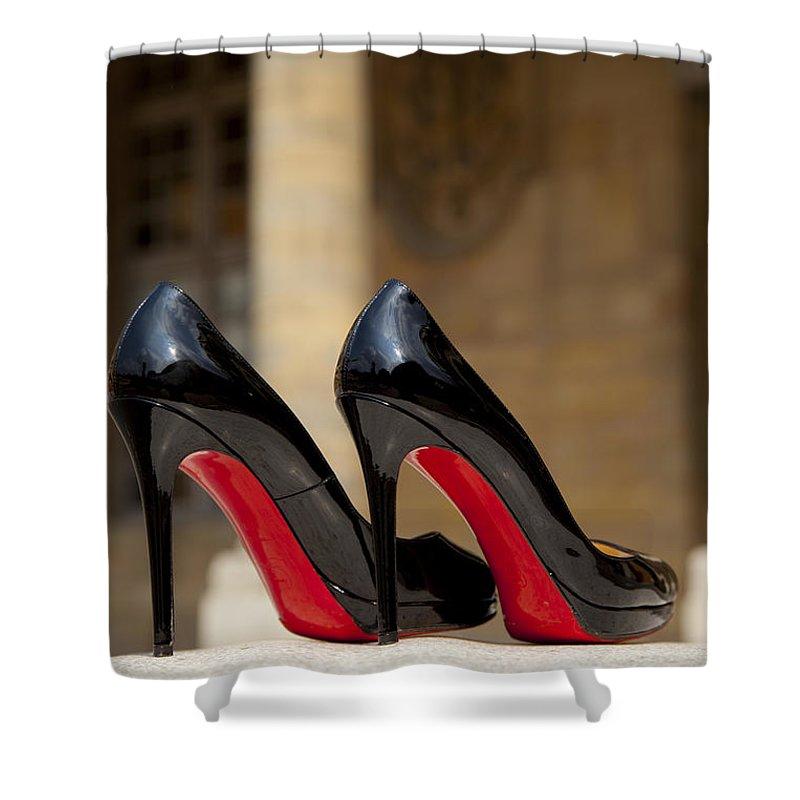 sports shoes c2424 83b32 Louboutin Heels Shower Curtain