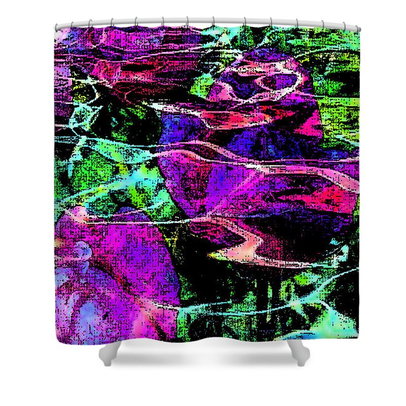 Digital Art Abstract Shower Curtain featuring the digital art Love Ever Gives by Yael VanGruber