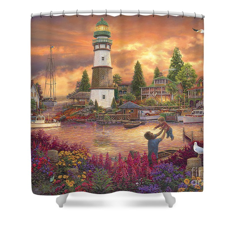 Scenic New England Paintings Shower Curtains